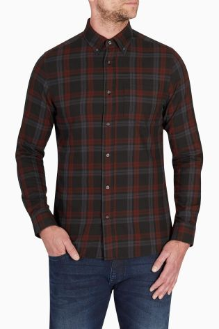 Buy Burgundy/Black Check Shirt online today at Next: Rep. of ...