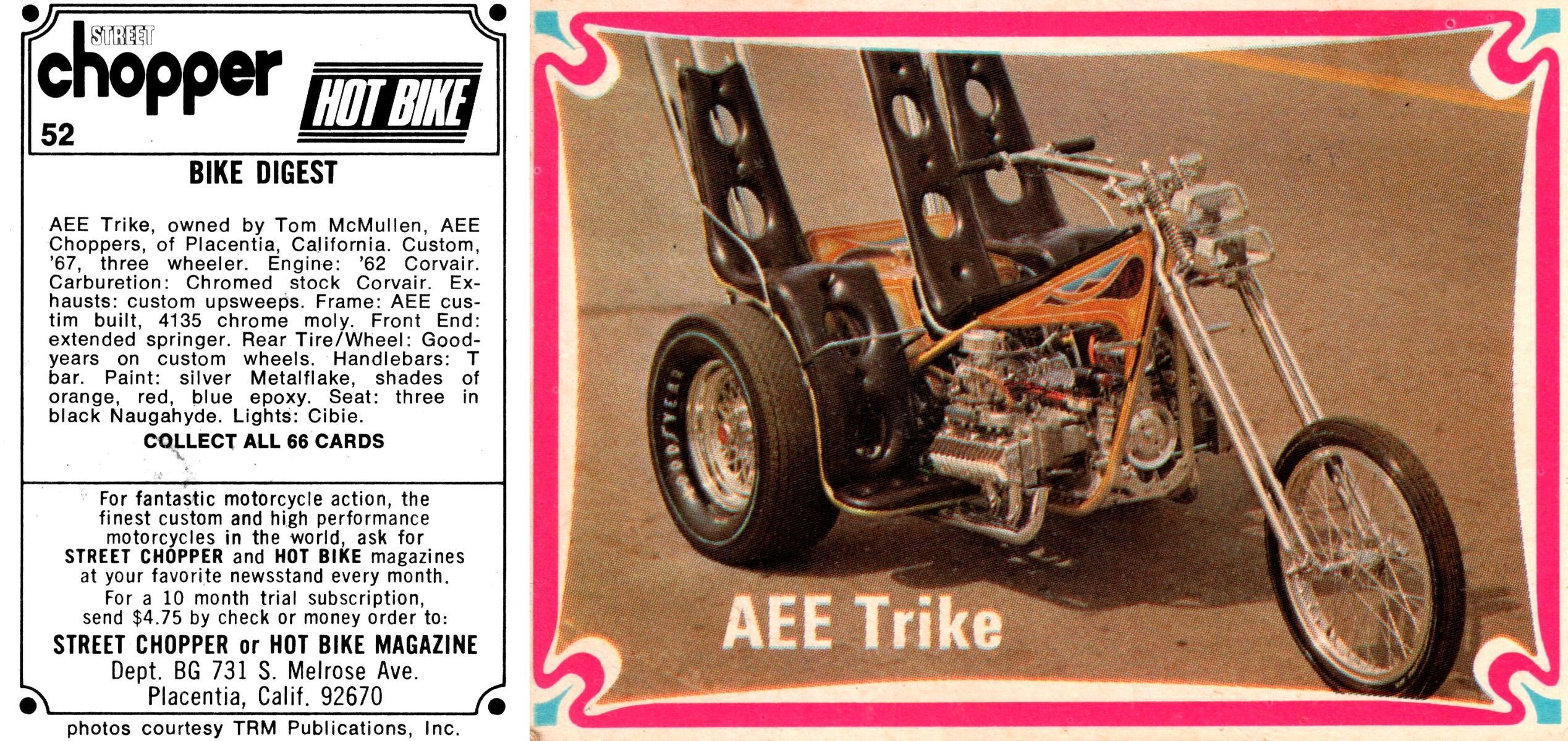 Card #52 | Motorcycle Collector Cards from the '70s | Collector