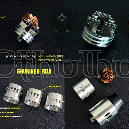 My New Rda Design The Shuriken Rda By Cthulhu Mod Vape Vapecommunity Vapelife Shuriken Usb Flash Drive Flash Drive