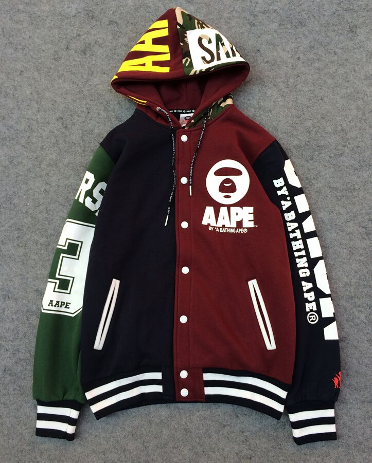 f1c1ba9b422 AAPE BATHING APE 93 RETRO CARDIGAN MULTICOLORED HOODIE SWEATER JACKET   75