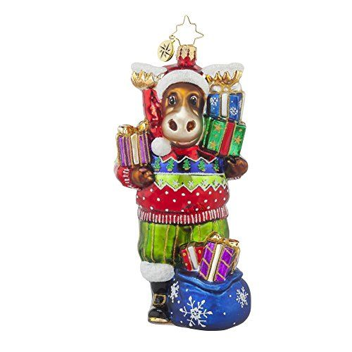 Christopher Radko From Bruce to You Moose Christmas Ornament - moose christmas decorations
