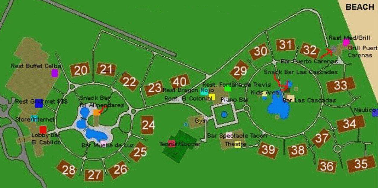 Memories Varadero Map Map Layout Memories Varadero   Cuba vacation   Varadero, Varadero