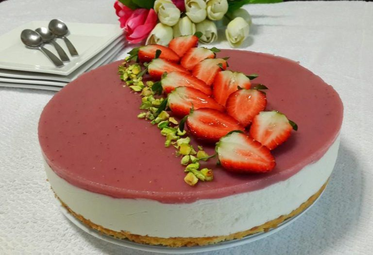 Cheesecake citron et fraises sans cuisson – Gâteaux ...