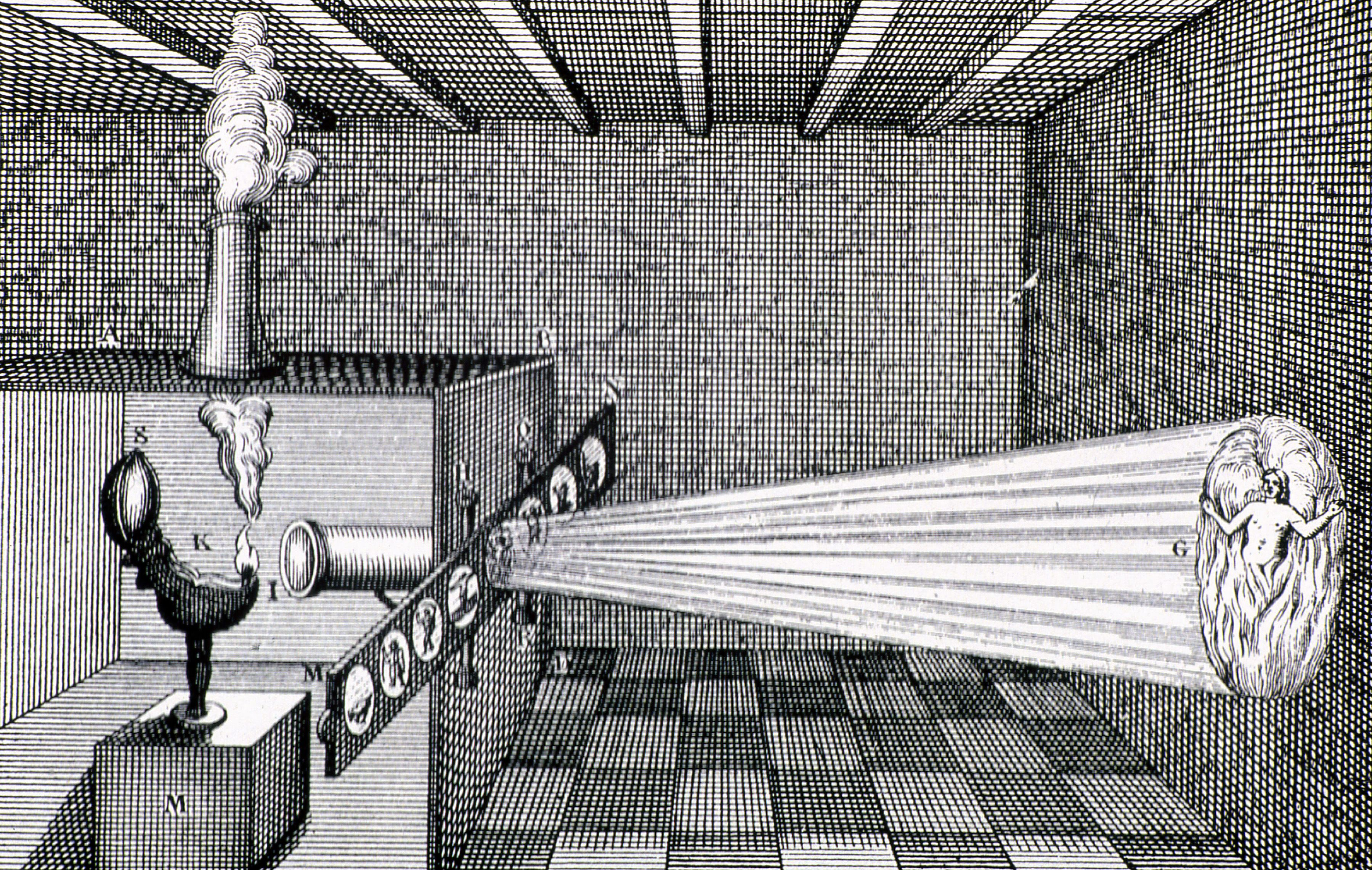 Lanterna de Kircher. Em 1644. Atanasio Kircher 9013b657c70