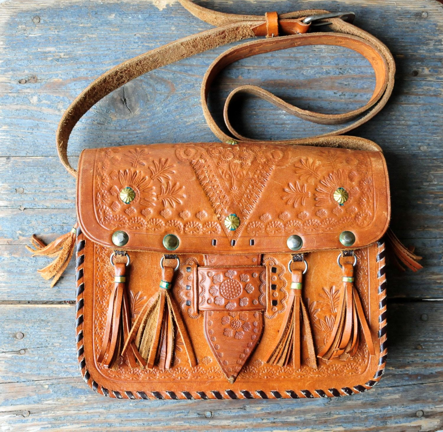 3c9586152d56 Hand Tooled Leather Bag