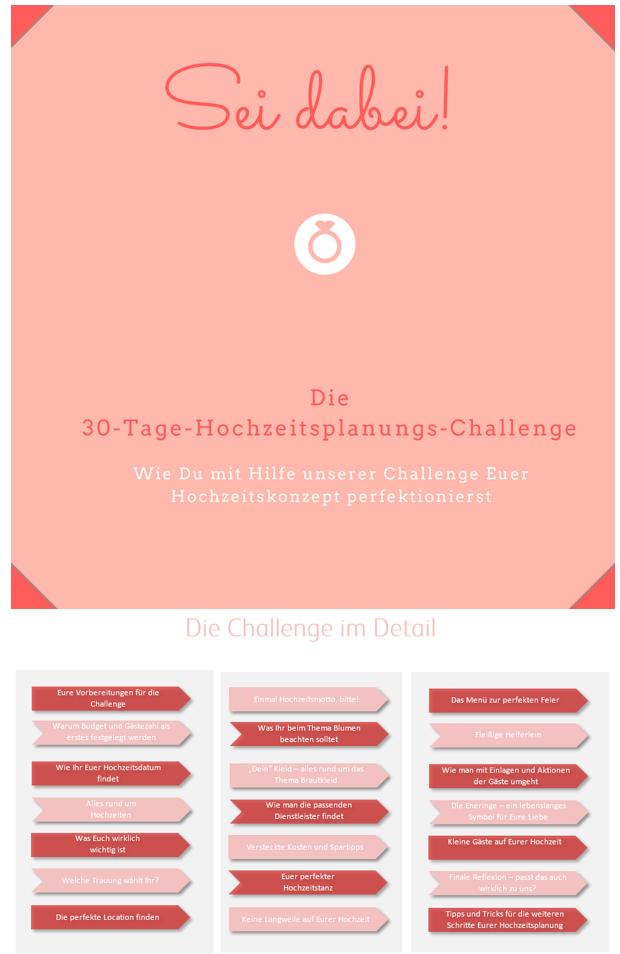 Die 30 Tage Hochzeitsplanungs-Challenge   Pinterest
