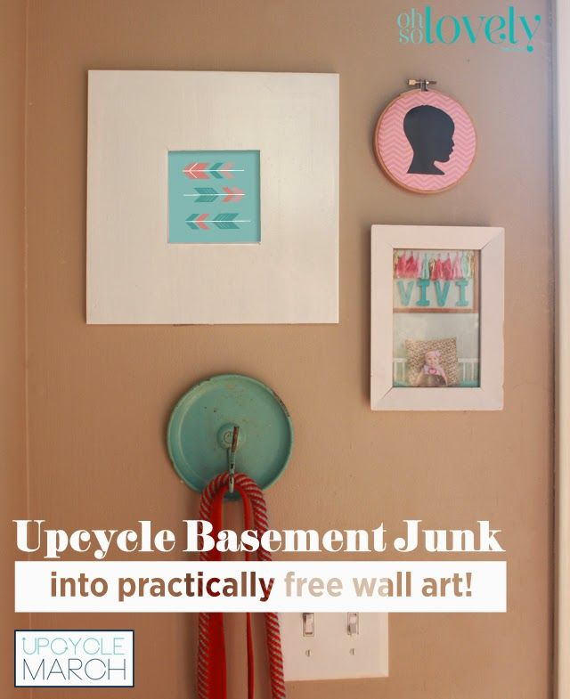 Turn basement junk into wall art and learn how to make a DIY cameo