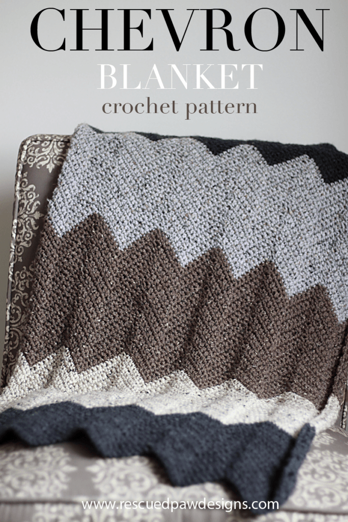 Neutral Chevron Crochet Blanket Pattern | Cobija, Colchas y Utiles