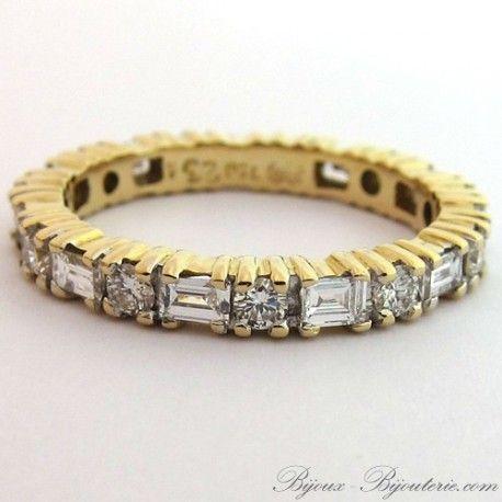 Bague en diamant d'occasion