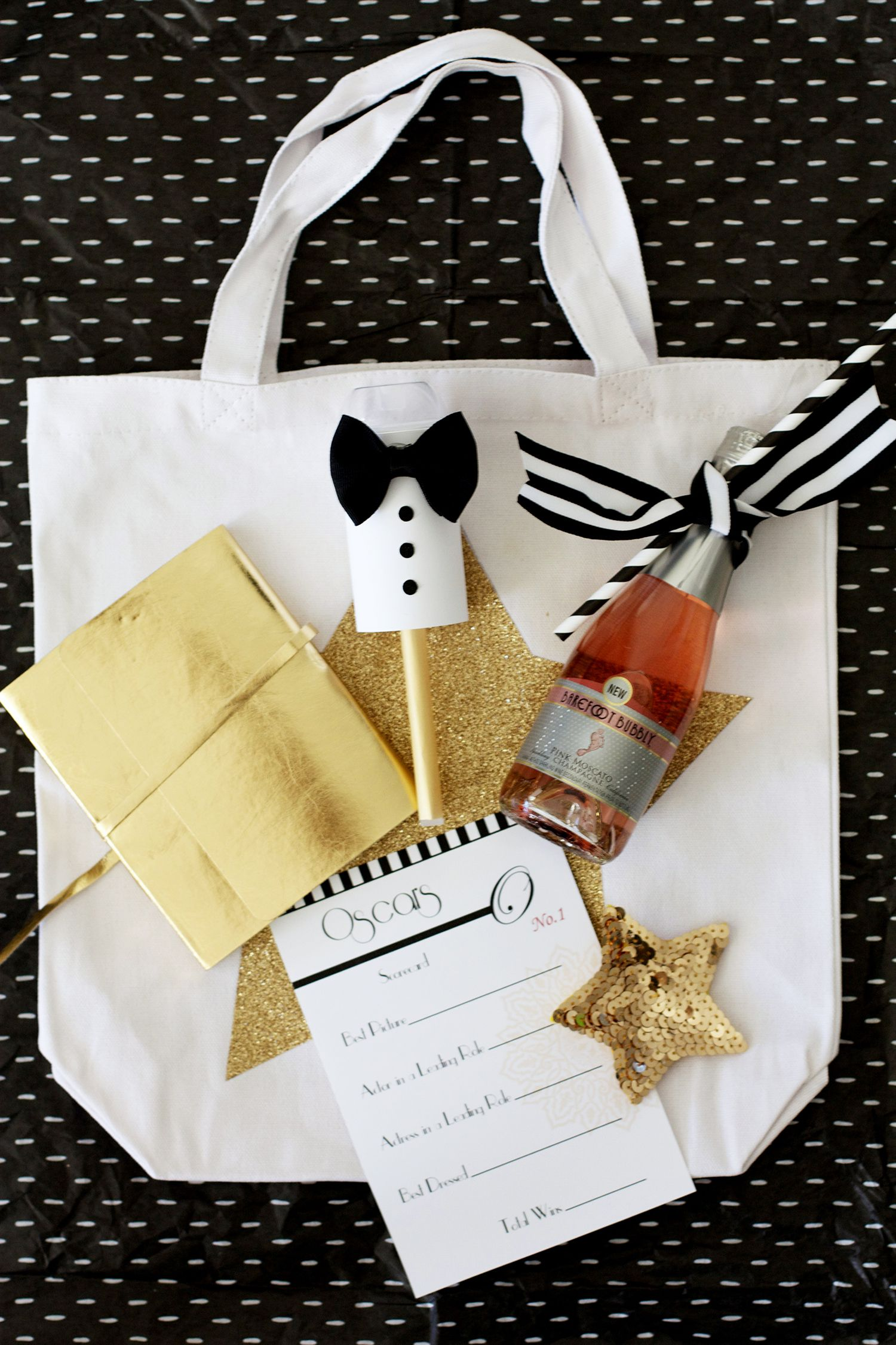 Oscars Party Swag Bag Ideas