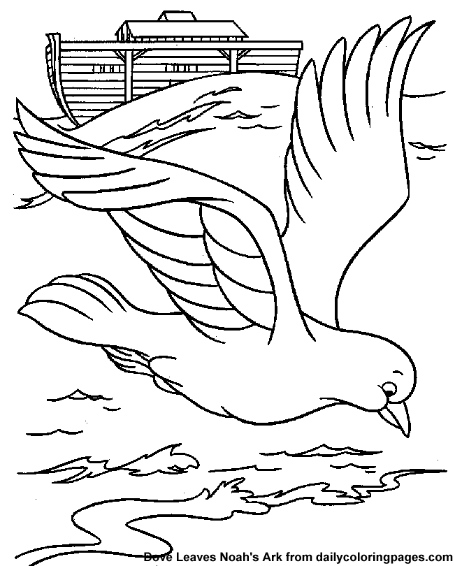 Noahs Ark Dove Leaves Bible Coloring Sheets