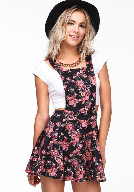 Floral Jumper Dress from love culture. Kinda love this.
