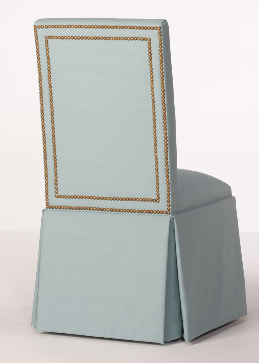 Madison Parsons Chair   Skirted Parsons Chair With Nailhead Trim