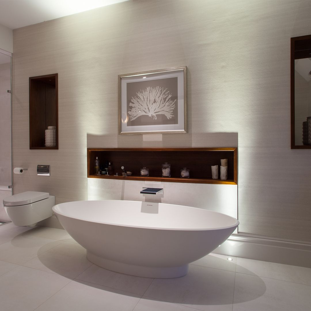 Uplighters Behind A Freestanding Bath Can Provide The