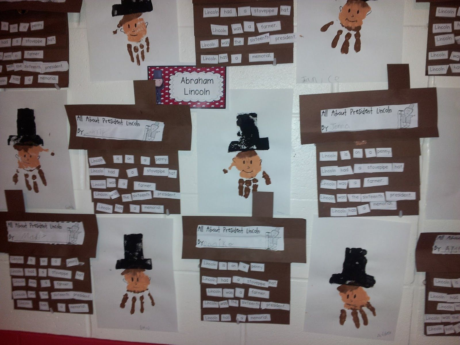 My Kindergarten Class Made These Super Cute Abe Lincoln