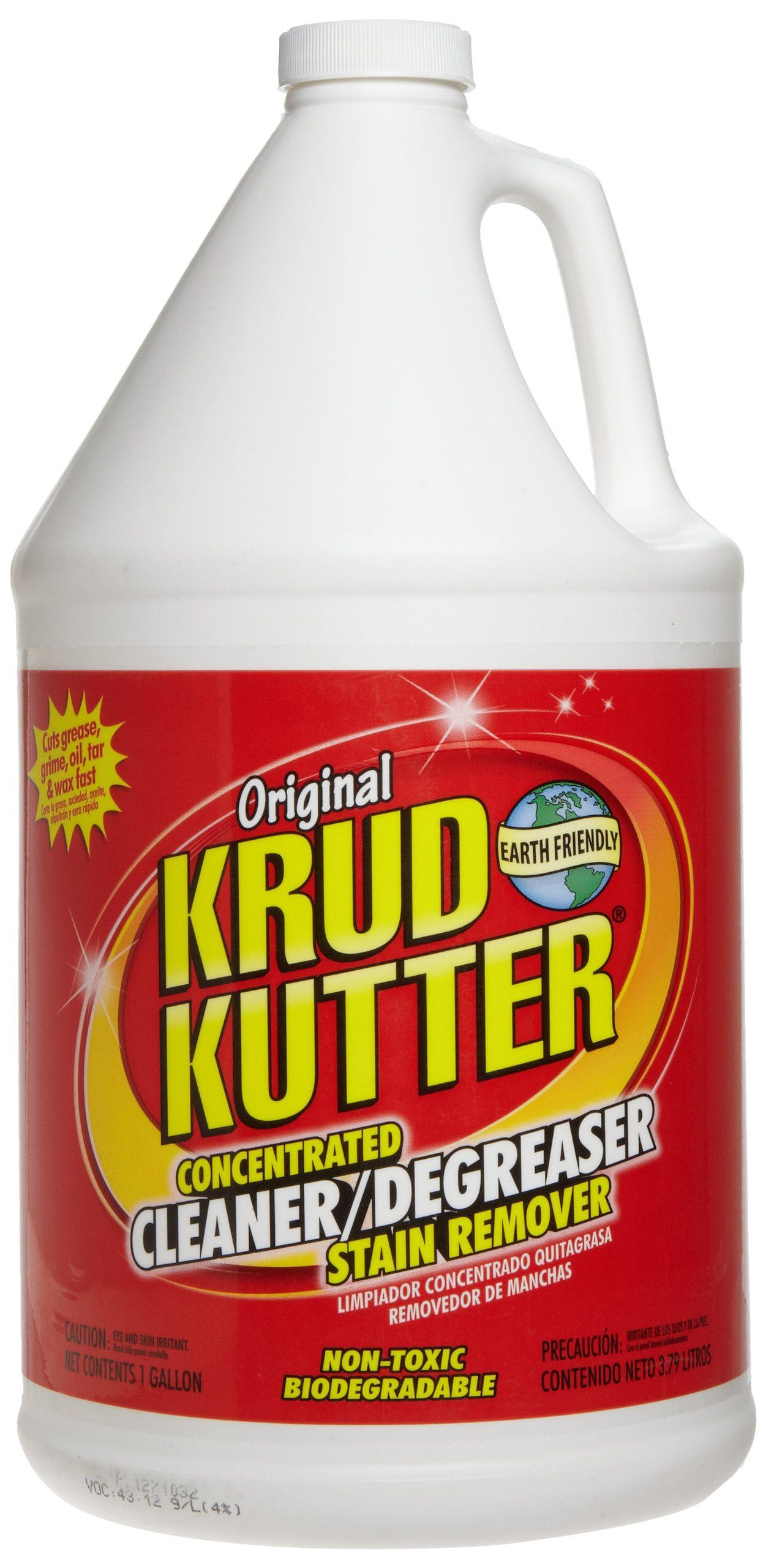 Krud Kutter Kk01 Clear Original Concentrated Cleaner Degreaser Stain Remover With No Odor 1 Gallon Degreasers Krud Kutter Best Concrete Cleaner