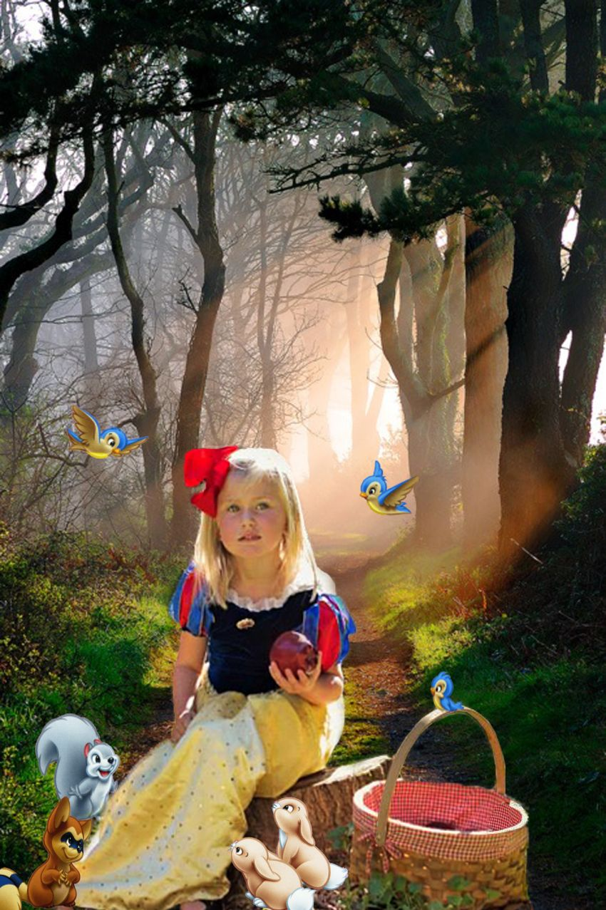 child photography snow white little princess fairy tale