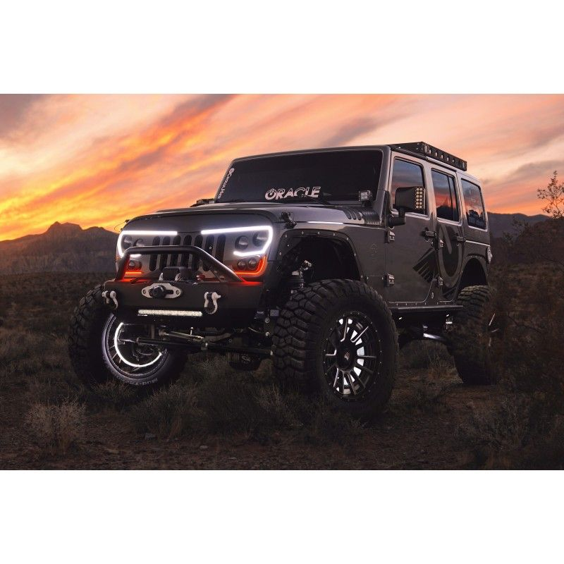 Oracle Vector Grill Matte Black Grilles Body Frame Exterior Jeep Wrangler Grill Jeep Wrangler Jeep Wrangler Unlimited