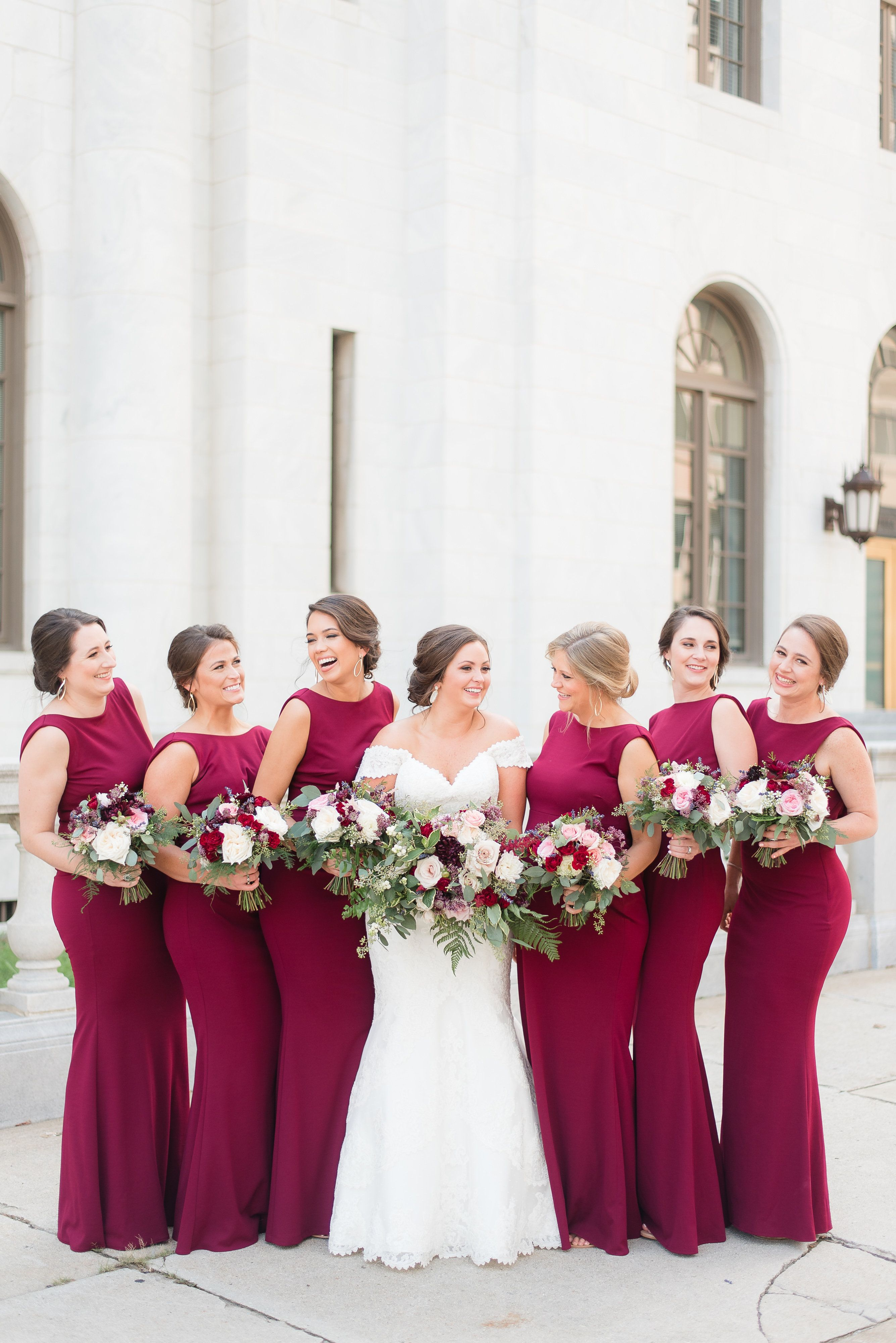 Bridesmaid bouquet red white pink bouquet red bridesmaids bridesmaid bouquet red white pink bouquet red bridesmaids dresses burgundy and gold wedding ombrellifo Gallery