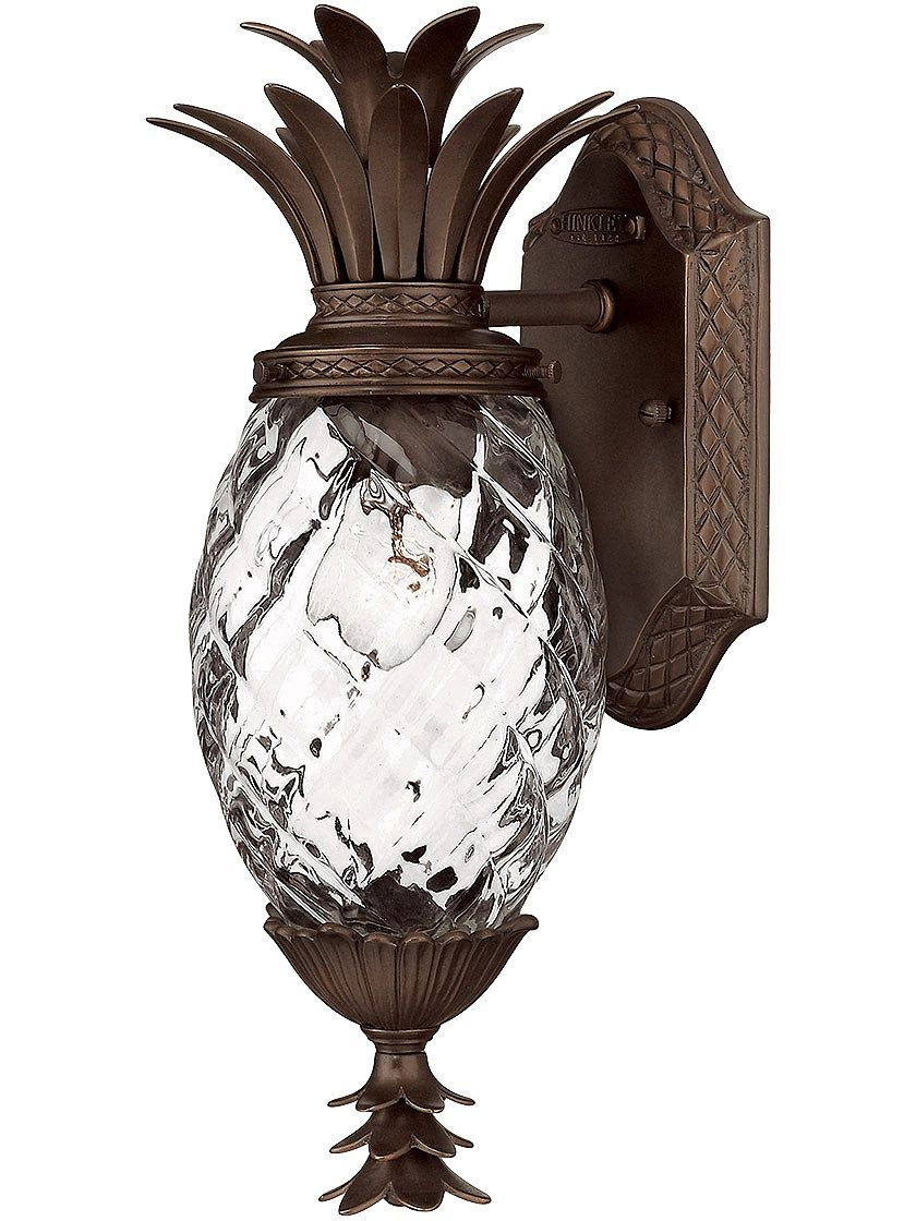 Porch Light Fixtures Plantation Pinele Sconce In Copper Bronze Exterior Lighting Outdoor Wall
