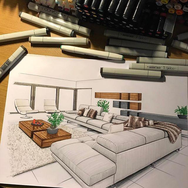 Dise os gr ficos dise o de interiores bocetos - Diseno y arquitectura de interiores ...