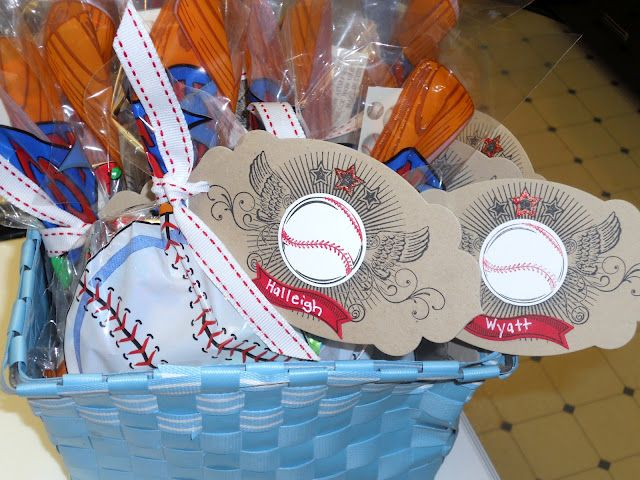 Stampin And Scrappin Val Tball Treat Bags Treat Bags Kids Sports Kids Birthday Party