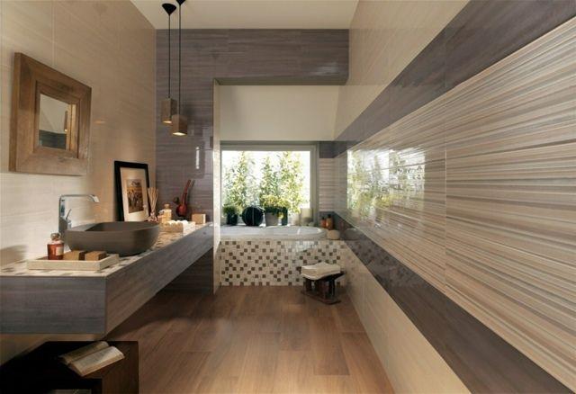 moderne Badezimmer Fliesen Design Ideen schön originell Interior