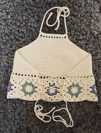 Free Crochet Pattern for Hepatica Granny Halter Top #makeclothes