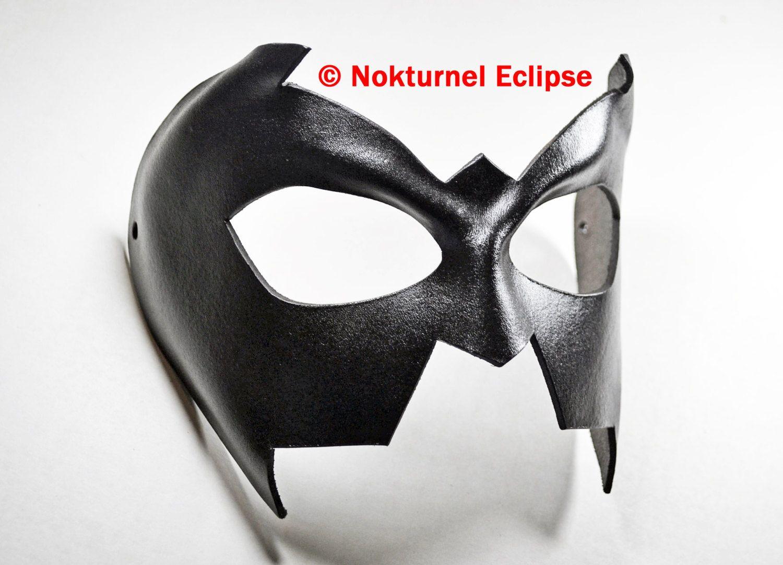 Nightwing Superhero Leather Mask Batman Robin Batman Damian Wayne ...