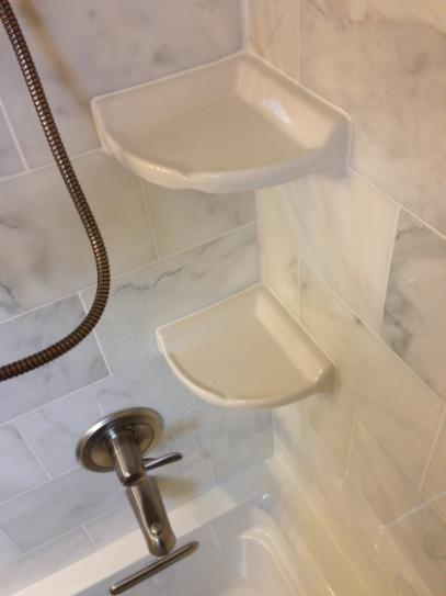 Mobile Wall Mounted Corner Shelves Diy Tile Shower Daltile