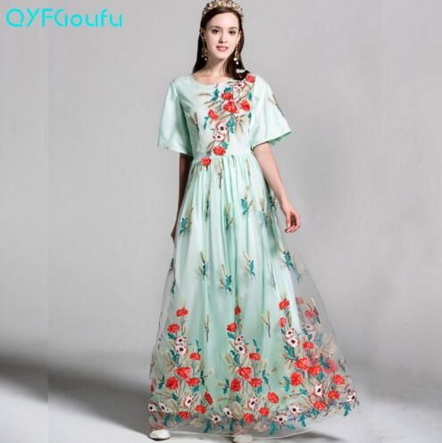 Elegant Long Floral Dress
