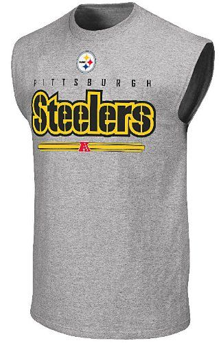 competitive price 628aa 76ad2 Amazon.com: Pittsburgh Steelers Mens Sleeveless Shirt by ...