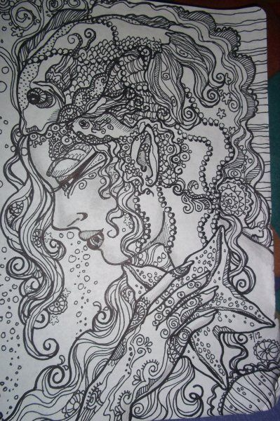 MOTHER SEA By Nelson Failing Tangle ArtTangle DoodleAdult ColoringColoring BooksDoodle