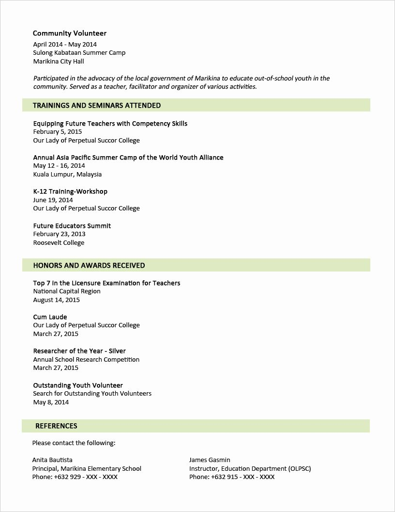 20 2 Page Resume format in 2020 Sample resume format