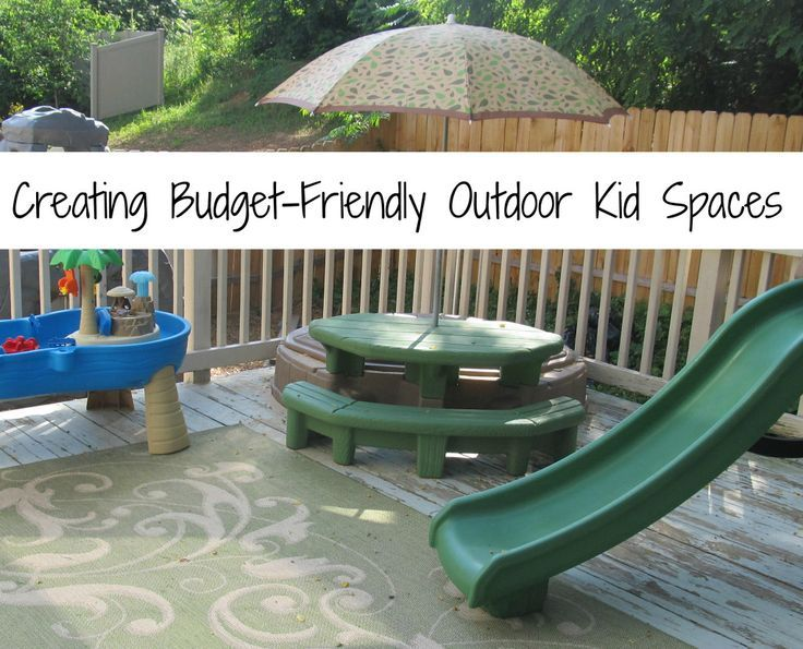 Creating Outdoor Spaces creating budget-friendly outdoor kid spaces_one artsy mama_this