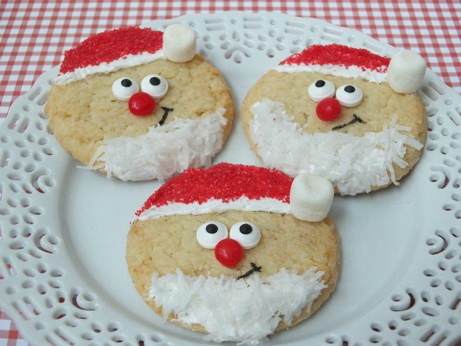 Santa Sugar Cookies Easy Christmas Treats Kid Friendly Christmas