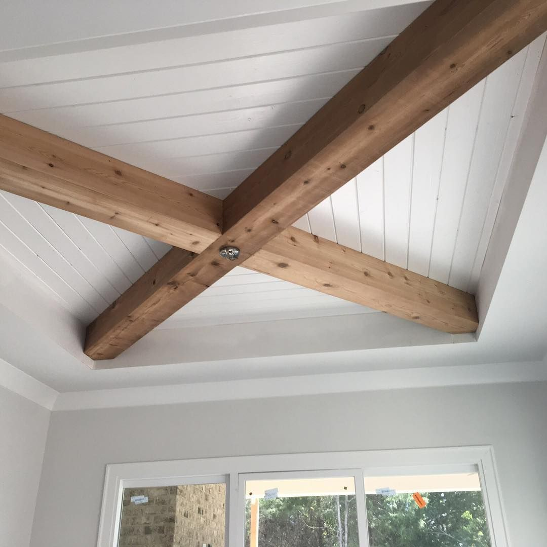 Shiplap Ceiling With Narrowgateartisans Beams Is The Latest