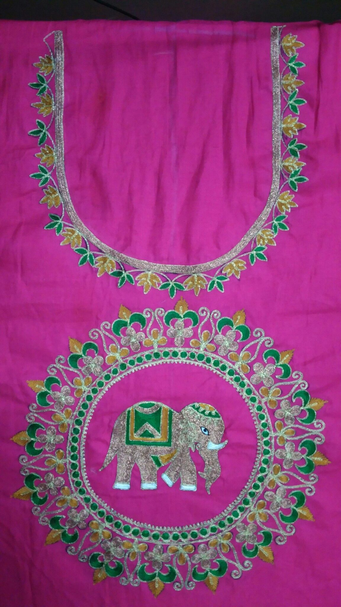 Pin by Anjali on work Embroidery blouse designs