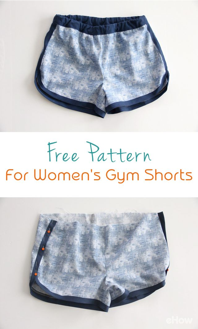 How to Make Women\'s Gym Shorts (With Free Pattern | DIY Fabric ...