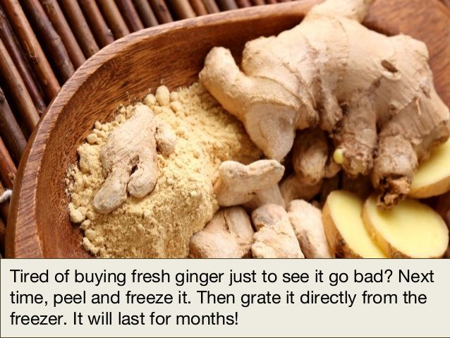 Save the ginger.