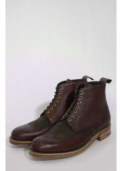 Grenson X Barbour Acklam Boot Brown Boots Amp Shoes