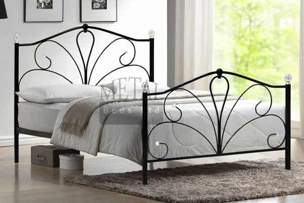 Sleepy Dreams Romance Crystal Metal Small Double Bed Frame