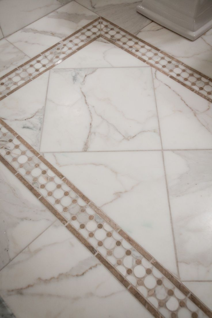 Tile Rug In Carrara Marble Tile.