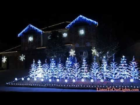 this family set their epic christmas lights display to let it go from frozen - Christmas Lights Synchronized To Music