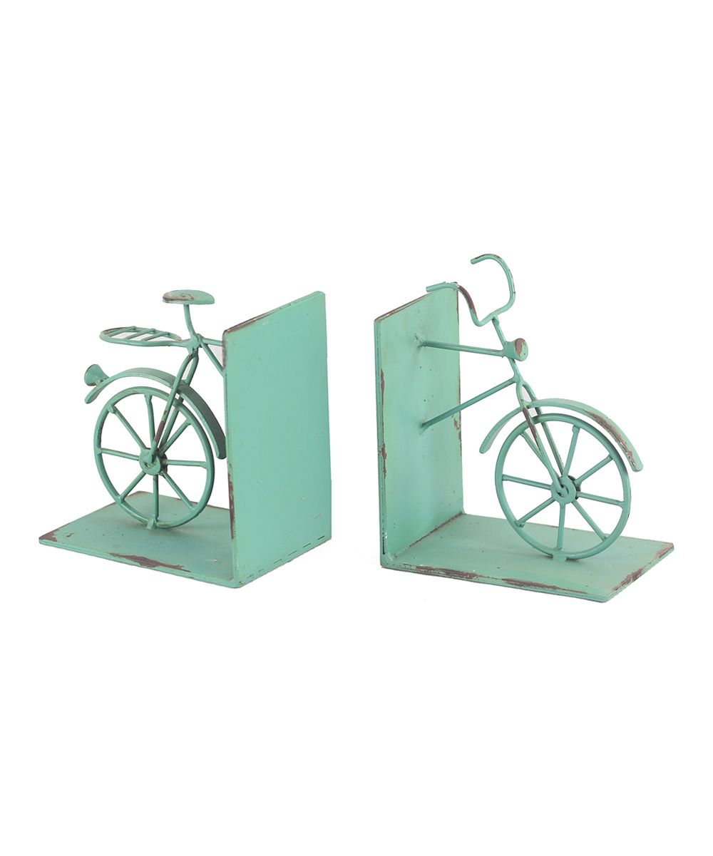 Fun bike bookends  Love the minty green color New Home Gifts