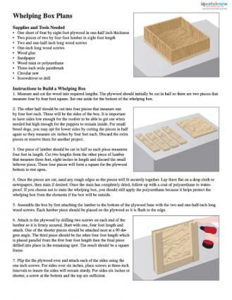 Whelping Box Plans Printable Thumb Going To The Dogs
