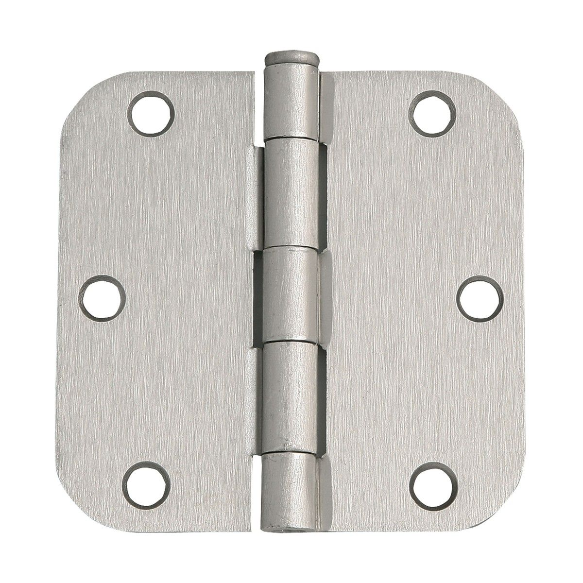 Design House 202481 Round Corner Door Hinge 3 1 2 X 3 1 2 With 5 8 Radius Satin Nickel Hardware Accessories Resi Door Hinges Corner Door House Design