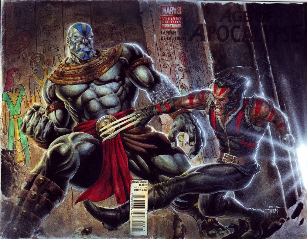 Aoa Wolverine Vs Apocalypse By Edtadeo On Deviantart Marvel Superhero Posters Apocalypse Marvel Comic Art