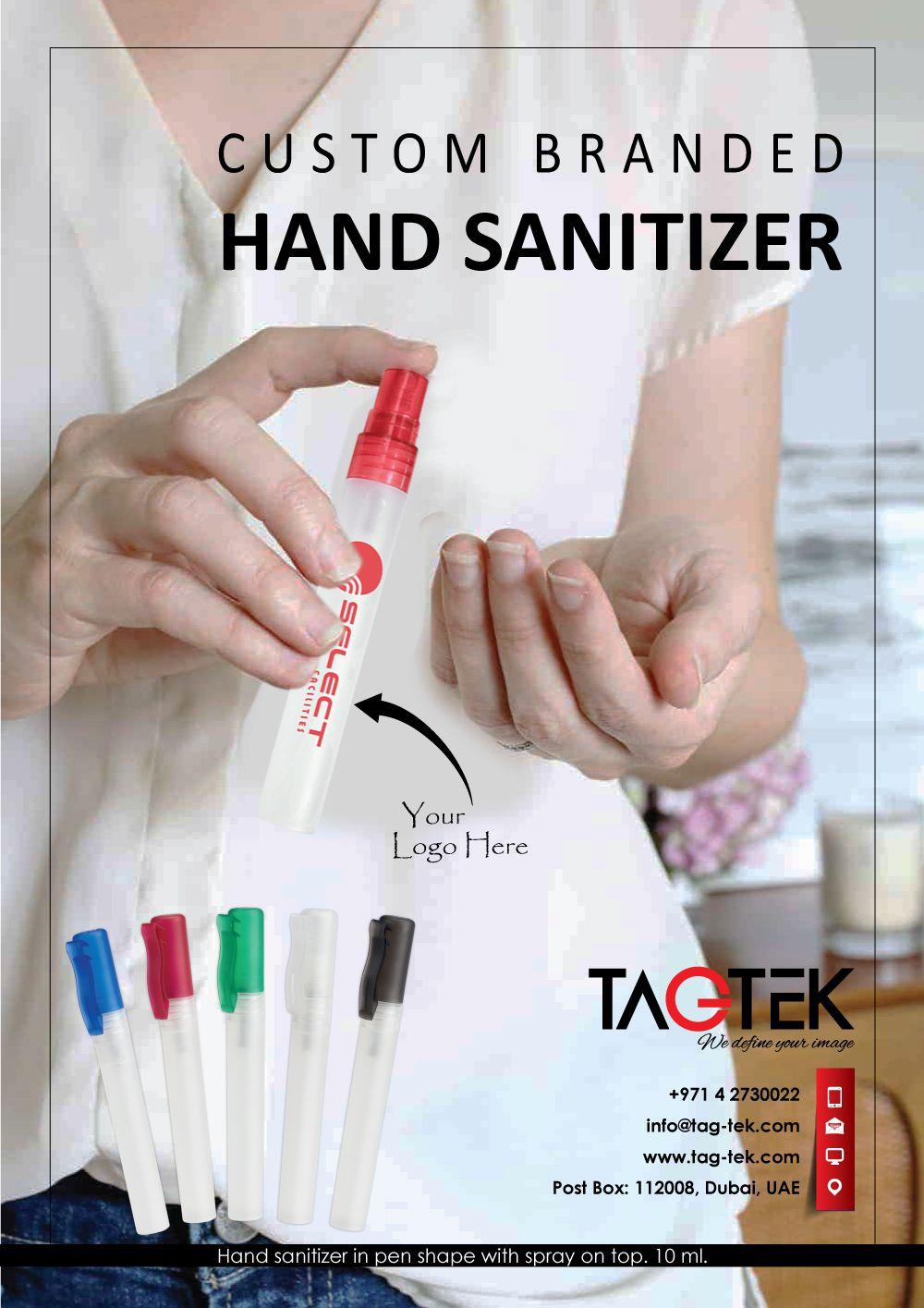 Personalized Metallics Credit Card Press Spray Hand Sanitizer