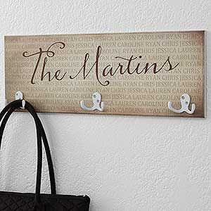 Together Forever Personalized Coat Rack Hand Painted Signs Personalized Family Home Signs